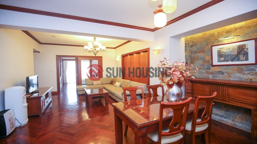 Nice views and modern style 02 bedrooms apartment in Tay Ho street for rent.