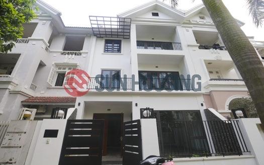 The new villa 4 bedrooms in T block, Ciputra to rent.