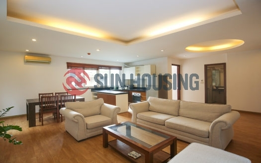 Stylish and nice view 3 bedrooms apartment in Xuan Dieu street for rent located on a high floor.