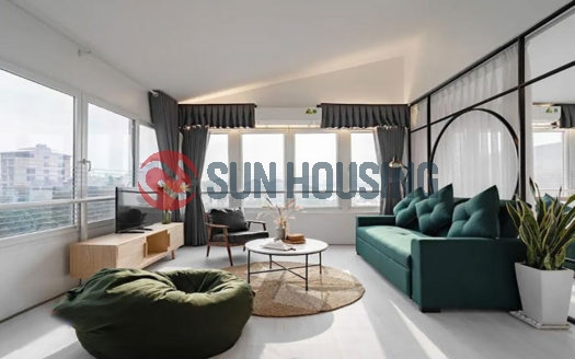 Top floor studio for rent in the heart of Tay Ho, To Ngoc Van Street