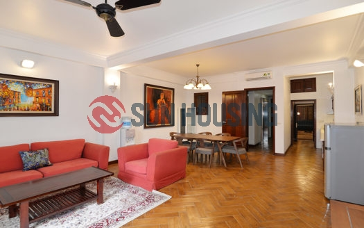 Unique 2 bedroom apartment in Truc Bach, 110 sqm with 2 LIVING ROOMS