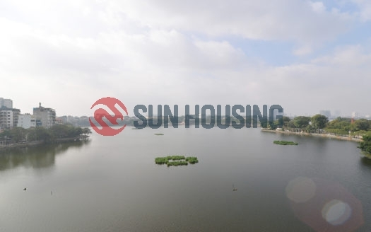 Lake view, balcony apartment 1 bedroom 65 sqm in Truc bach, Ba Dinh for rent.