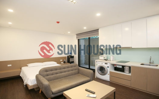 The new apartment is located at the center of Tay Ho for rent.