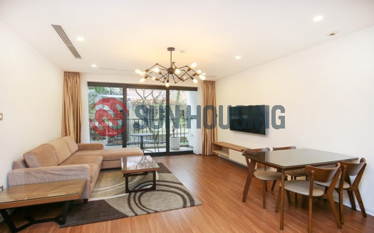 New, cozy and quiet 100 sqm, 2 bedrooms apartment in Tay Ho street for lease
