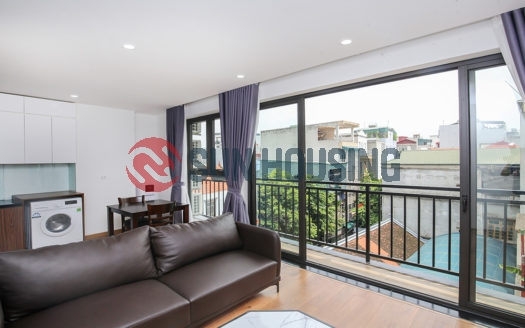 Bright living room apartment with 1 bedroom in Trinh Cong Son Street.