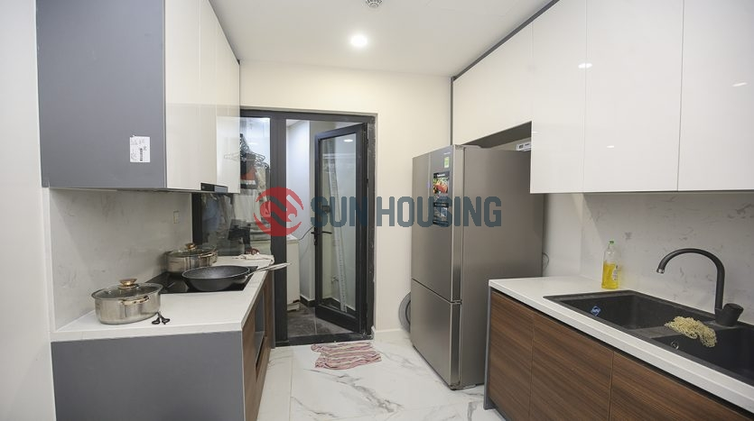 The modern apartment is for rent at S4 Tower, Sunshine city, Ciputra compound, Hanoi.