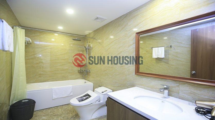 Modern 01 bedroom service apartment in Tay Ho for rent.