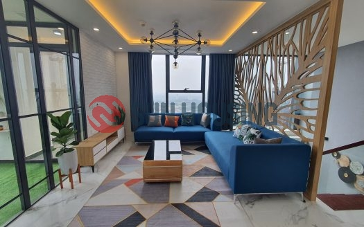 The romantic and modern duplex apartment is for lease at S6 Tower, Sunshine city, Ciputra compound, Hanoi.